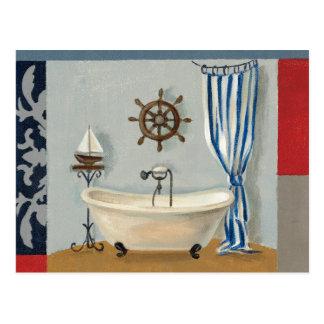 Nautical Bathroom Post Cards