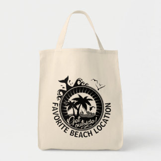 Nautical Beach Monogrammed Souvenir | Personalized Tote Bag