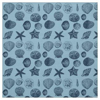 Nautical Beach Shells Fabric