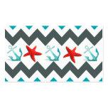 Nautical Beach Theme Chevron Anchors Starfish