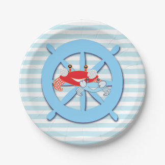 Nautical Beach Themed Crabs Baby Shower Plates