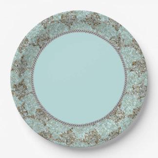 Nautical-Beauty_Sea-Glass_Rope_(c)Blue-Gray Unisex Paper Plate