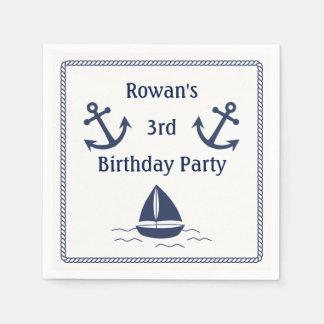 Nautical Birthday Party Napkins Disposable Serviette