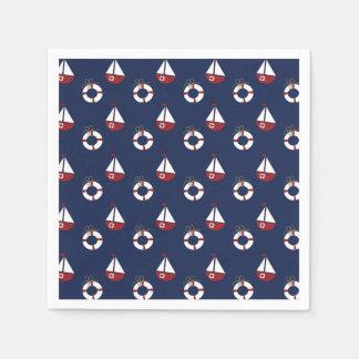 Nautical Birthday Party Ocean Pattern Napkins Paper Napkins