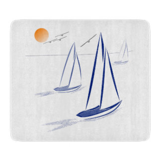 Nautical Bits Coastal Sailing Yachts Cutting Boards