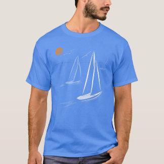 Nautical Bits Coastal Sailing Yachts Dark Tees