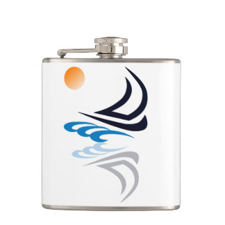 Nautical Bits Sailing Yacht with Reflection Flasks