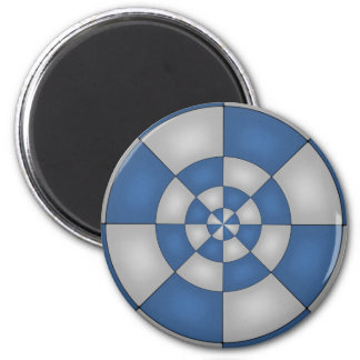 Nautical Blue Abstract 6 Cm Round Magnet