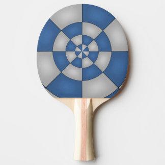 Nautical Blue Abstract Ping Pong Paddle