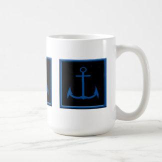 Nautical Blue Anchor Mugs