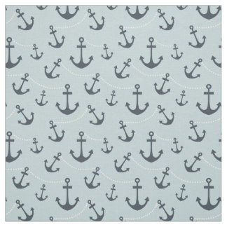 Nautical Blue Anchors Fabric
