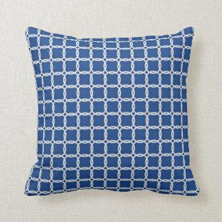 Nautical Blue and White Ropes Cushion