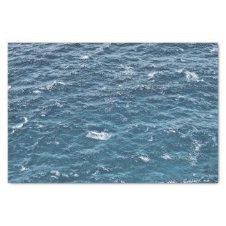 Nautical Blue Ocean Water Tissue Paper