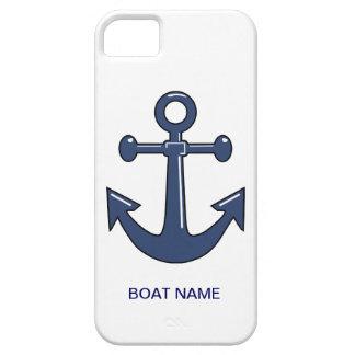 Nautical Blue Ship Anchor Custom Boat Name iPhone 5 Case