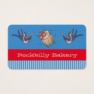 Nautical Blue stripe Tattoo rockabilly bakery