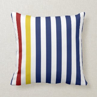 Nautical Blue Stripes Cushion