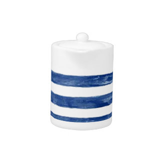 Nautical Blue Stripes Painting Art