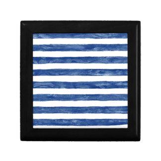 Nautical Blue Stripes Painting Art Gift Box