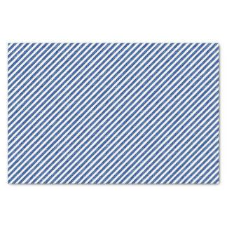 Nautical Blue Stripes Painting Art Tissue Paper