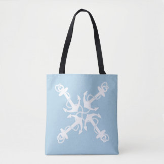 Nautical blue tote bag