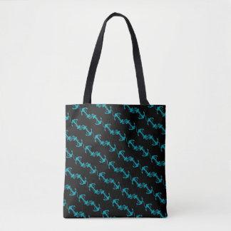 Nautical blue tote bag