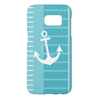 Nautical Blue White Stripe Design