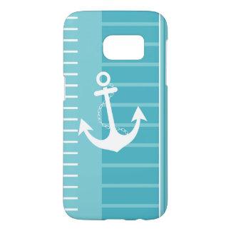 Nautical Blue White Stripe Design