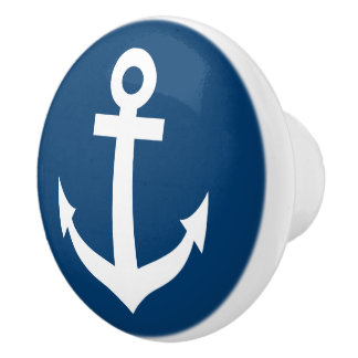 Nautical boat anchor door and drawer pull knobs