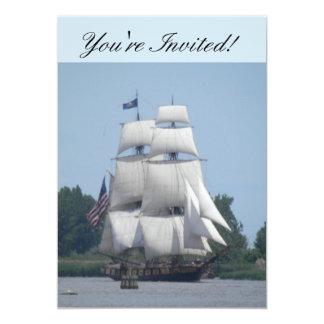 Nautical Boat Invitation Card