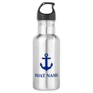 Nautical Boat Name Anchor 532 Ml Water Bottle