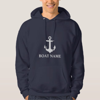 Nautical Boat Name Anchor Blue Hoodie