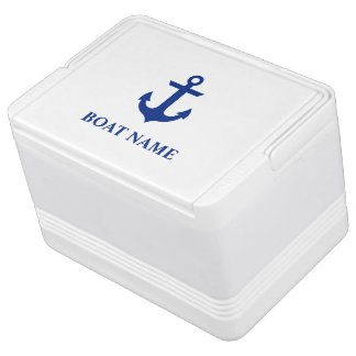 Nautical Boat Name Anchor Cooler