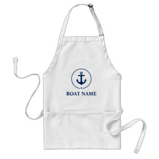 Nautical Boat Name Anchor Rope Standard Apron