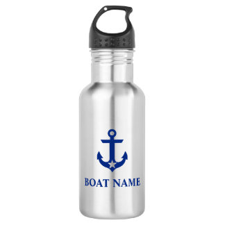 Nautical Boat Name Anchor Star 532 Ml Water Bottle