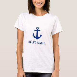 Nautical Boat Name Anchor White W T-Shirt