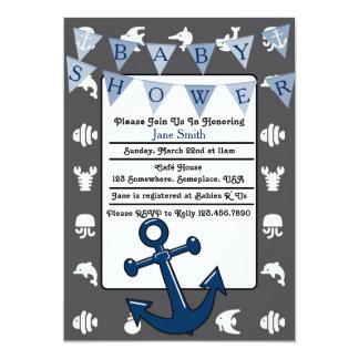Nautical Boy Baby Shower Card