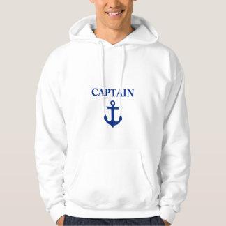 Nautical Captain Anchor White Hoodie
