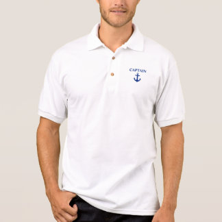 Nautical Captain Anchor White Polo Shirt