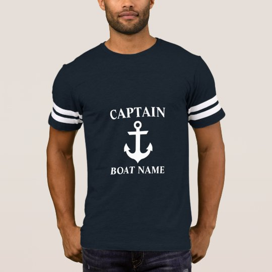 Nautical Captain Boat Name Anchor FB T-Shirt