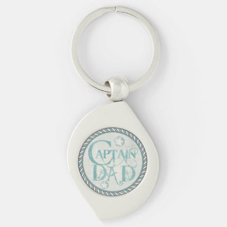 Nautical Captain Dad Father s Day Keychain