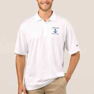 Nautical Captain Name Anchor Polo Nike Shirt