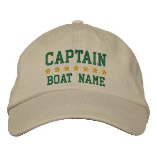 Nautical Captain Your Boat Name Khaki Cap