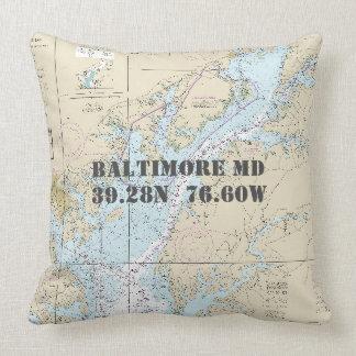 Nautical Chart Latitude Longitude Baltimore MD Cushion