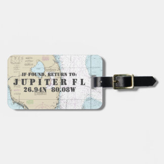 Nautical Chart Latitude Longitude South Florida Bag Tag