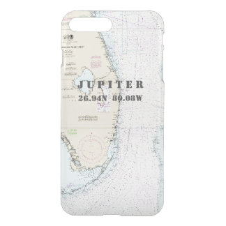 Nautical Chart Latitude Longitude South Florida iPhone 7 Plus Case