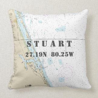 Nautical Chart Latitude Longitude: Stuart, Florida Cushion