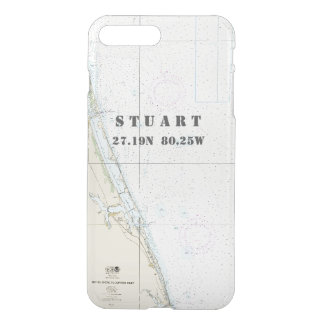 Nautical Chart Latitude Longitude: Stuart, Florida iPhone 7 Plus Case