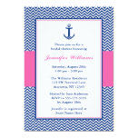 Nautical Chevron Anchor Blue Pink Bridal Shower