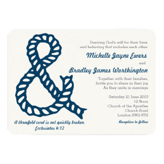 Nautical Christian Wedding Invitation