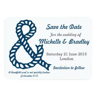 Nautical Christian Wedding Save the Date 13 Cm X 18 Cm Invitation Card